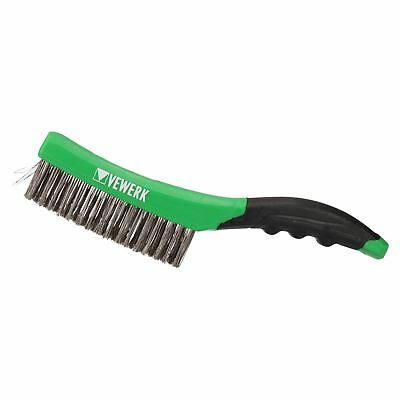 """260mm (10"""") Cleaning Removal Stainless Steel Wire Brush with Soft Grip Handle"""