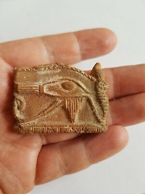 Beautiful Pottery Ancient Egyptian Eye Of Horus Amulet 2 Inches Across