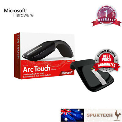 Brand New Microsoft Arc Touch Wireless Mouse 2.4GHz Surface Edition Black