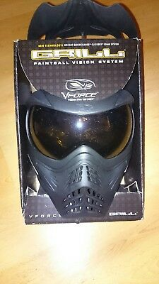 "VForce Grill ""black"" Smoke Thermalglas Maske. Paintball/Airsoft"