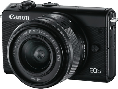 NEW Canon M100KISB EOS M100 Mirrorless Camera with 15-45mm Lens