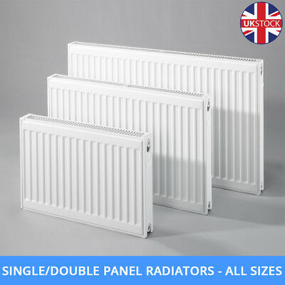 Double + Single Panel Convector Compact Central Heating White Radiator All Sizes