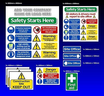 Construction Signs Pack1  - Building Safety - Free Company Name or LOGO