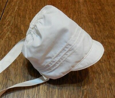 Vintage Off White  Baby Cap or Hat  Lovely tufted back section Silky Fabric