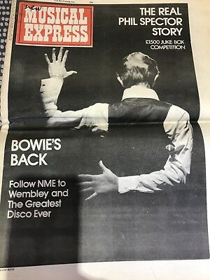 New Musical Express (NME) 7 March 1976 Bowie cover