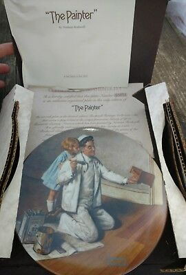 "Knowles Norman Rockwell Heritage collection ""The Painter""  Plate"