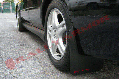 Rally Armor Basic Mud Flaps Black w/ Red Logo 2002-07 SUBARU WRX STi  MF1-BAS-RD
