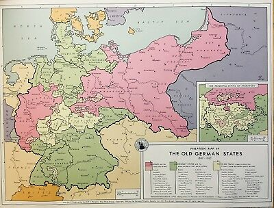 7 color maps, 1849 to 1945 German conquests. 1963, German Philatelic Society Inc