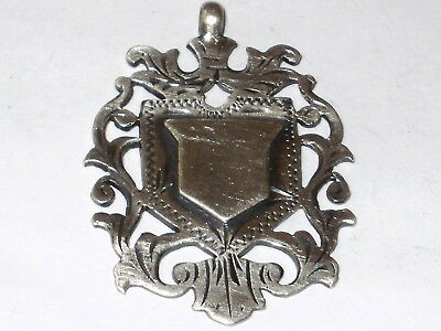Antique Large Solid Sterling Silver Fob For Albert Chain By W.j.dingley, 1918
