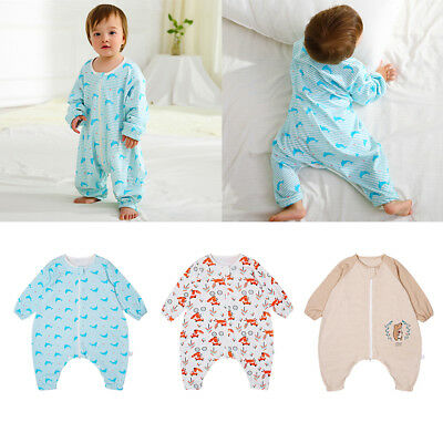 Toddler Sleeping Bag Kid Long Sleeve Cotton Wearable Blanket Baby Sleepwear