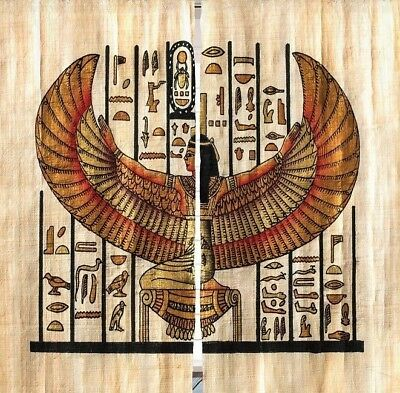 """Egyptian Ancient Historical Art CURTAIN PANEL Set Old Artifact Wings Decor 84"""" L"""