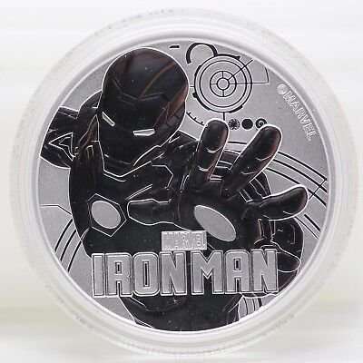 Iron Man 2018 Tuvalu .9999 Silver $1 Coin 1 oz - MARVEL Comics Ag - JY711