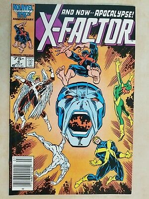 X-Factor # 6 In Vf+ ( 8.5 ) / Nice Looking Book / First Appearance Apocalypse /