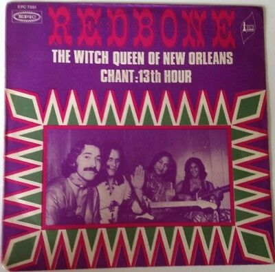 "7"" Redbone: The Witch Queen Of New Orleans / Chant: 13th Hour - Epic France,"