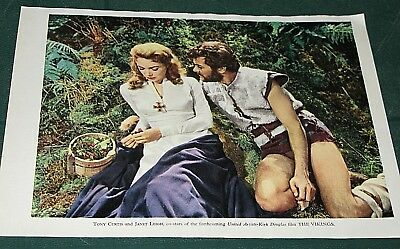 Collectible Movie Star Colour Photo`s - Tony Curtis Janet Leigh The Vikings