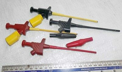 2 PAIRS of Electrical Meter Test Probes by HIRSCHMANN