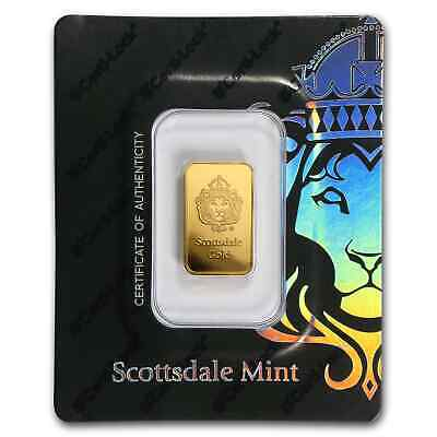5 gram Gold Bar - Scottsdale Mint (In Certi-Lock® Assay, Black) - SKU#171694