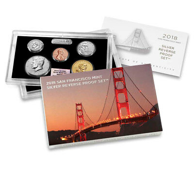 2018 S US Silver Reverse Proof Set NGC GEM Reverse Proof First Day Issue
