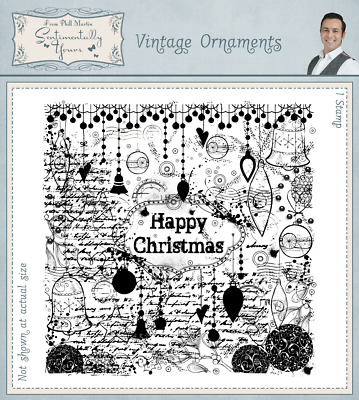 Phill Martin Scribbled Christmas Petite Sentiments 12 Stamps SYSCHPS