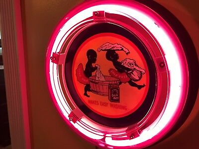 ^^^Gold Dust Laundry Room Detergent Sambo Store Kitchen Neon Wall Sign
