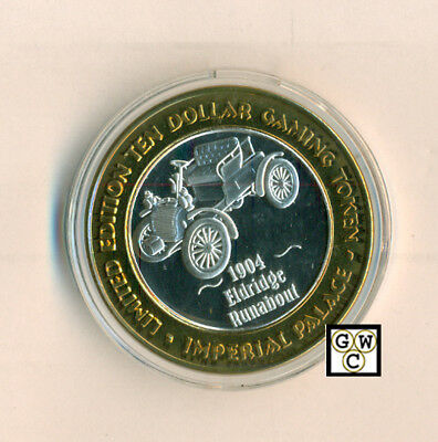 Imperial Palace Limited Edition $10 Gaming Token .999 Fine Silver (Ooak)