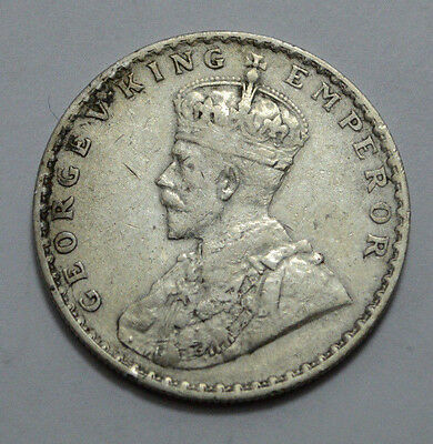 British India 1912 Type Ii, King George V Emperor One Rupee Rare Silver Coin !!!