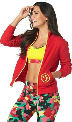 Zumba One Love  Zip Up Cardigan Jacket Black S  and RED L XL