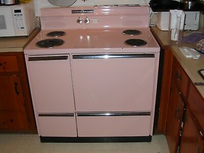 1958 General Electric vintage pink stove & oven