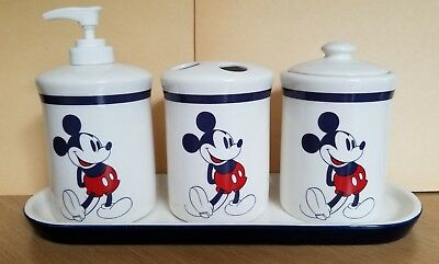 Disney Mickey Mouse Bathroom Accessories Set 30 00 Picclick