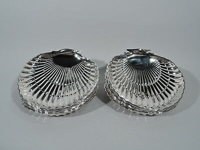 Gorham Plates - 40617 - Scallop Shells Shell Dishes - American Sterling Silver
