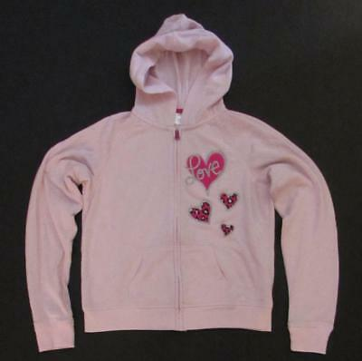 DANSKIN NOW Pink Long Sleeve Hoodie Sweatshirt Girls Size XL 14-16