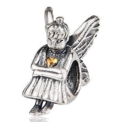 Angel Guardian Charm Bead 925 Sterling Silver