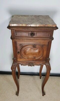 STUNNING Antique French louis xv style bedside cabinet