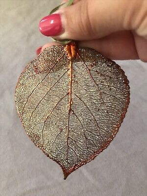 Gold Dipped Iridescent Real Aspen Leaf Ornament by The Rose Lady USA Made