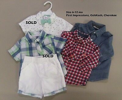 Baby Boy Clothes: overalls, buttondowns, hoodies (size 3-18 mo) - you pick!
