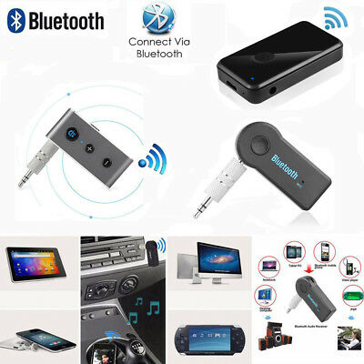 Bluetooth Wireless 3.5mm Stereo Phone Aux Audio Music Home Car Receiver Adapter