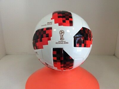 Adidas Fifa Russia 2018 World Cup Soccer Mini Ball Size 1 Telstar White And Red