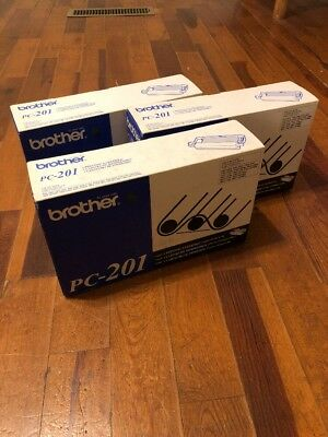 BRAND NEW Lot Of 3 BROTHER PC-201 PRINTING CARTRIDGE FAX 1010/1020/1030/1170