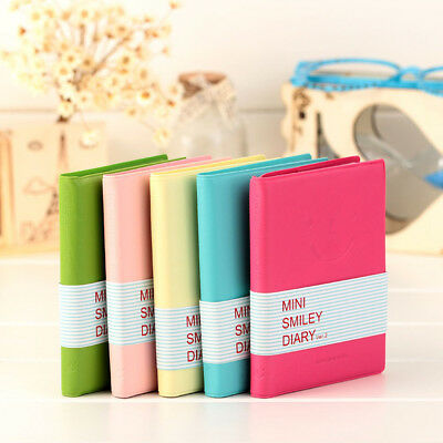 1PC Portable Notebook Mini Diary Memo Notepad Journal Planner Note Pad Leather