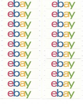 eBay Logo Packaging Stickers/Labels (30 count)