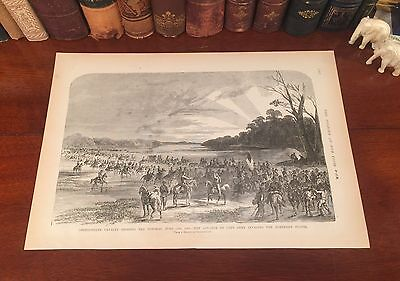 Original Antique Civil War ROBERT E LEE Invades MARYLAND Engraved Panoramic Map