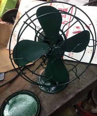 "GE General Electric 42X548 with rare orig felt base 10"" Oscillating Electric Fan"