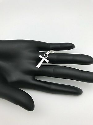 New Real 925 Sterling Silver Ankh Ancient Cross Pendant