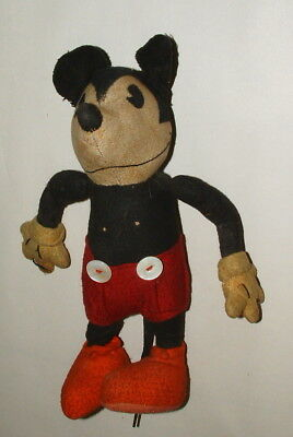 1930s OR 40s WALT DISNEY MICKEY MOUSE FIGURE 10 INCHES TALL WELL LOVED