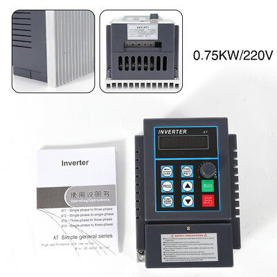 0,75KW Einphasig Frequenzumrichter Variable Frequency Drive VFD CNC Control 220V