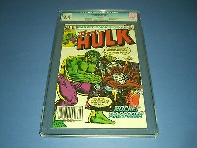 The Incredible Hulk 271 CGC 9.4 w/ WHITE PAGES 1982! 1st Rocket Raccoon not CBCS