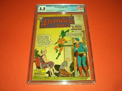 Adventure Comics 260 CGC 3.5 from 1959! Origin of Aquaman DC not CBCS