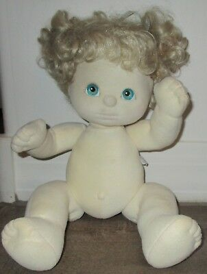 """Mattel My Child Doll With  Blue Eyes  & Blonde Hair 15"""" Tall"""