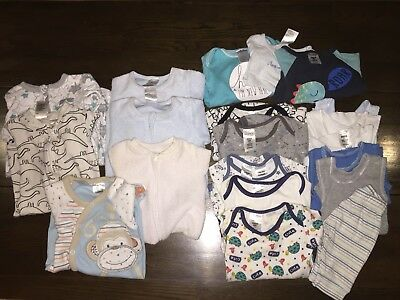 Bulk Lot Baby Boy Winter Clothes Size 0000, Tiny Little Wonders & Baby Berry