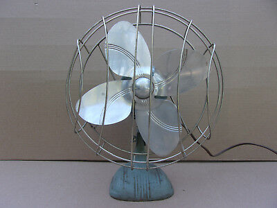"Vintage Dominion 10"" Table Desk Top Oscillating Fan Model #2021-B"